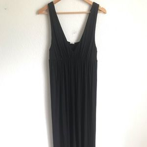 J.crew black long maxi dress XL